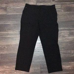 Chico's so slimming crop black pants